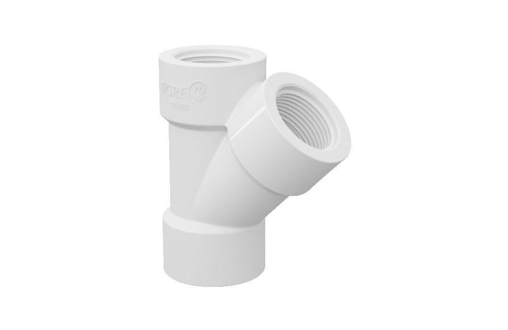 Junção 45° Roscável - PVC