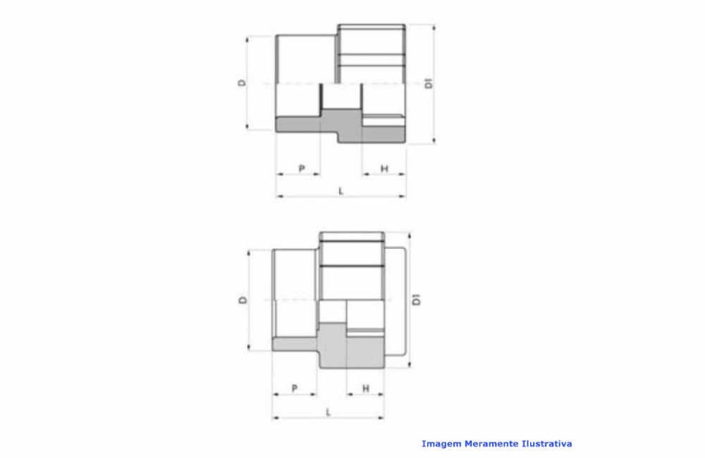 LUVA TRANSIÇÃO PPR INDUSTRIAL AZUL TIGRE DN 50 X 1.1/2 BSP