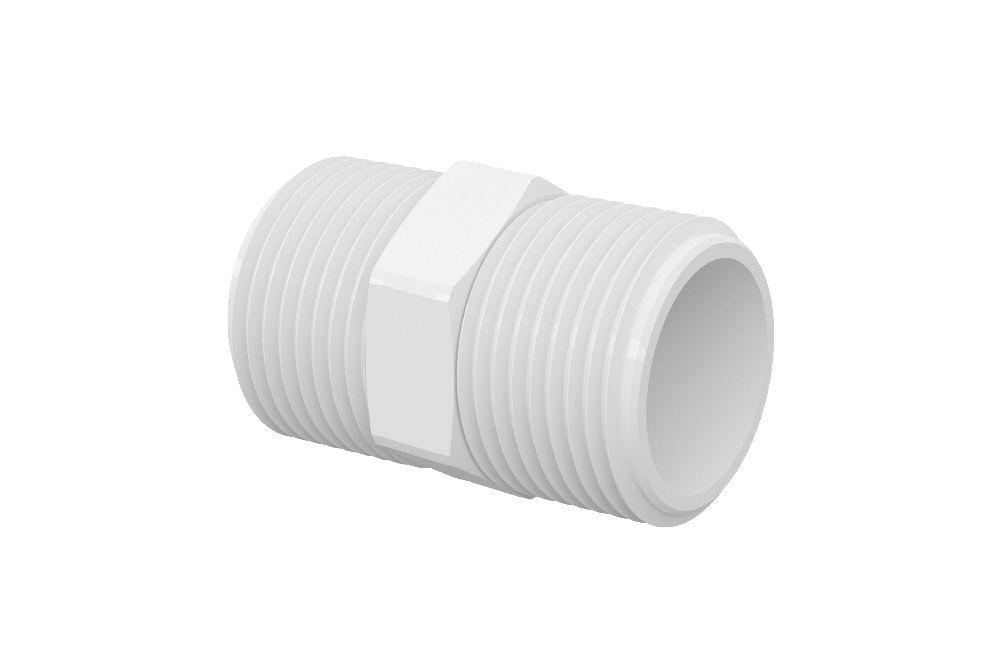 Niple Duplo Roscável - PVC