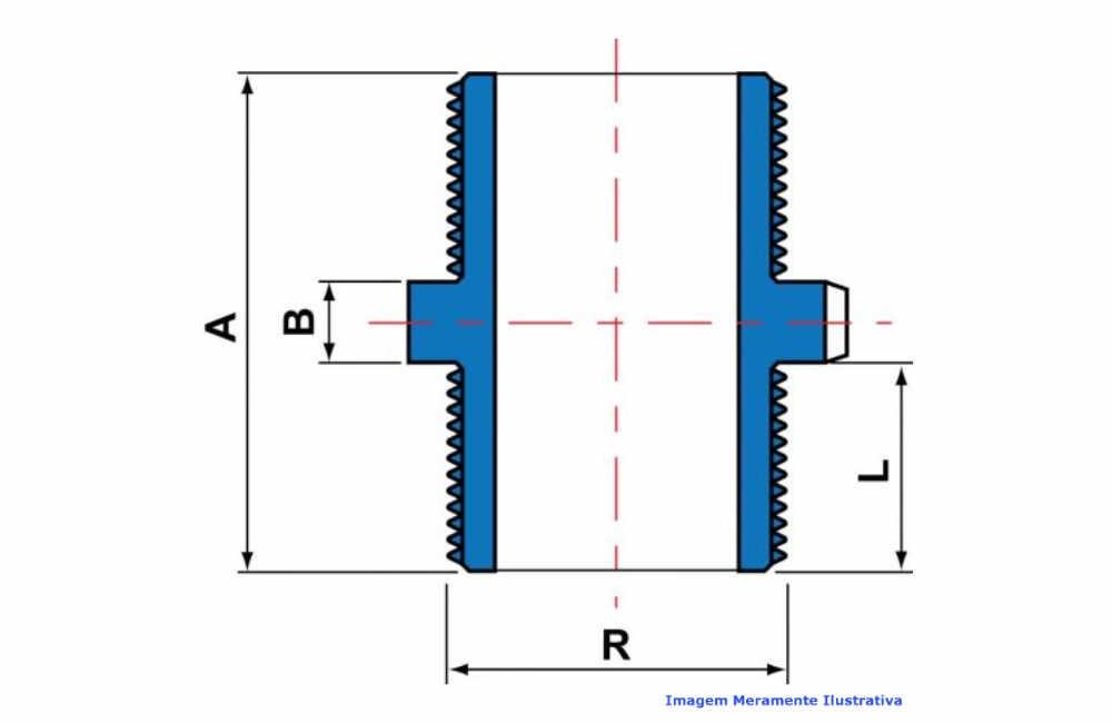 NIPLE PVC-U SCH80 ROSC TIGRE DN 1.1/2 NPT
