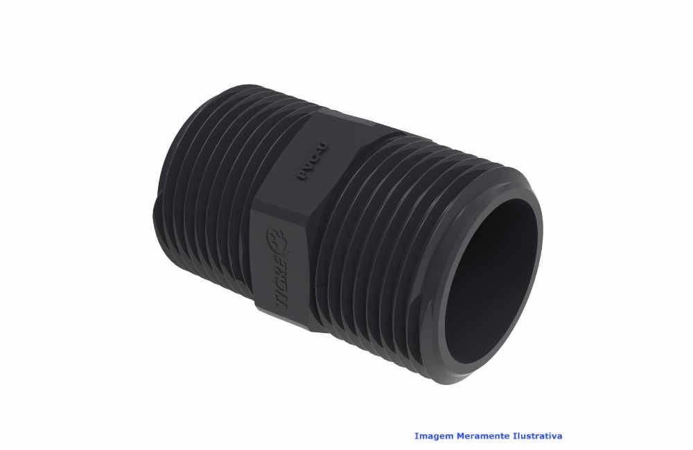 NIPLE PVC-U SCH80 ROSC TIGRE DN 1 NPT