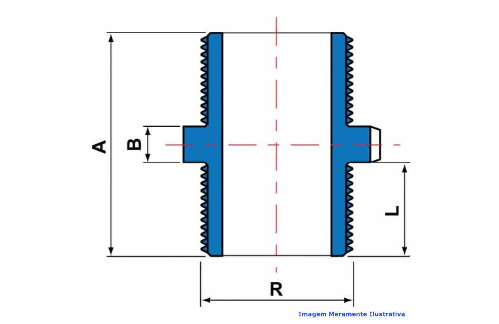 NIPLE PVC-U SCH80 ROSC TIGRE DN 3 NPT