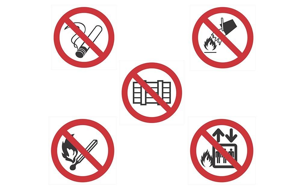 Placas de Proibição ( P-1 a 5 )