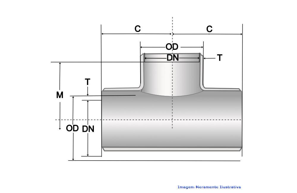 TE 90G A234 SCH40 S/COSTURA DN 3/4