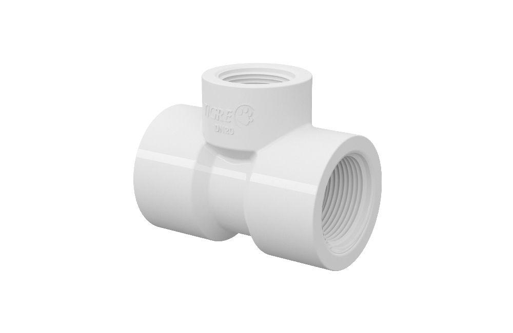 Te de Redução Roscável - PVC