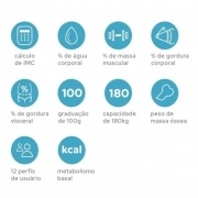 Balança Digital Acompanhamento De Idosos Imc Technolife