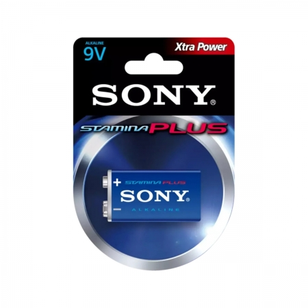 Bateria Alcalina Sony 9v Stamina Plus Xtra Power