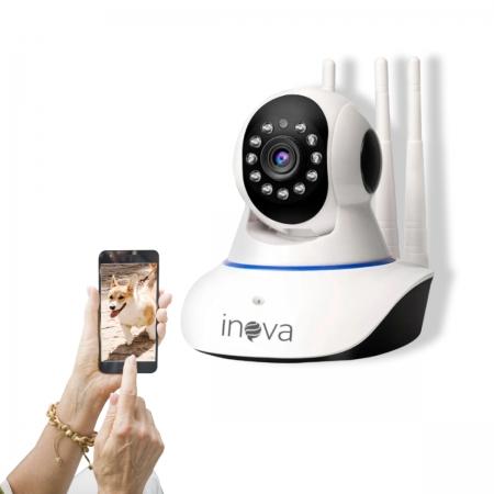 Câmera Segurança Babá Eletrônica Crianças Idosos Wifi 360º