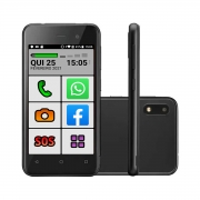 Celular Do Idoso Letra Grande Sos Tela 4' 32gb Smart Oba