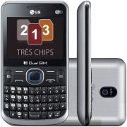 Celular Lg Tri Chip C398 Tela 2.3 Wi-fi Câmera Vitrine