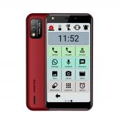 Celular Smartphone Android Ideal para Idosos Positivo Vermelho