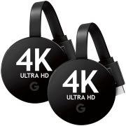 Combo 02 Google Chromecast Ultra 4k Hdmi Smart Tv Vitrine