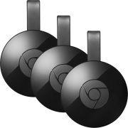 Google Combo Com 3 Google Chromecast 2 Full Hd 1080p Wi-fi Vitrine