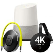 Google Combo Google Chromecast Audio + Google Chromecast Ultra 4k + Google Home Vitrine