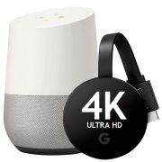 Google Combo Google Home + Google Chromecast Ultra 4k De Vitrine