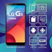 LG G6 Dual H870 64gb Tela 5.7' 4gb Ram 13mp Wifi 4g Anatel