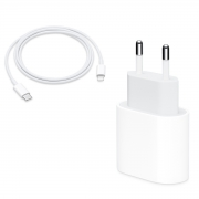 Kit Apple Fonte Carregador 20W PD QUICK CHARGER + Cabo APPLE TYPE-C to LIGHTNING