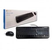 Kit Teclado E Mouse Microsoft C/ Fio Usb Wired Desktop 600