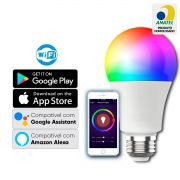 Lampada Inteligente WIFI Colors Led Smart 9w Bivolt QTOUCH