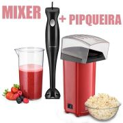 Pipoqueira Elétrica Sem Óleo Multilaser Ce041 + Mixer De Alimentos Gourmet Multilaser Fp009