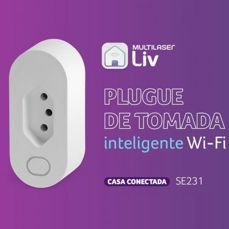 Tomada Inteligente Wi-Fi Multilaser Liv Bivolt Se231 Alexa