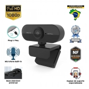 Webcam Viribus FULL HD Auto Focus com Microfone 1080P Livestream EAD