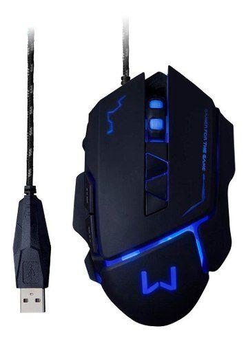 Mouse Gamer Warrior Ivor 3200dpi Usb Led