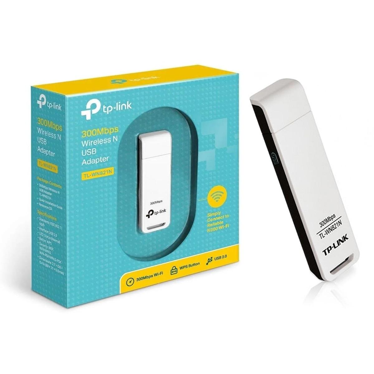 Adaptador Wi-fi TP-Link USB Wireless N 300Mbps TL-WN821N