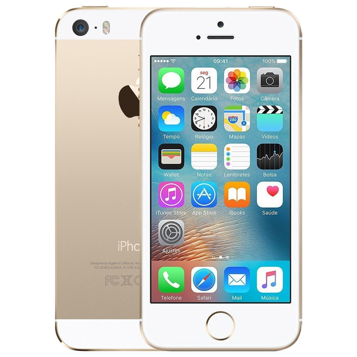 Apple iPhone 5s 16gb 4g Cam 8mp Anatel Sem Biometria (Usado)