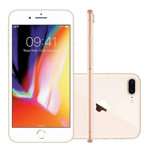 Apple iPhone 8 Plus 64gb 3gb Ram Tela 5.5' iOS 14 - Seminovo
