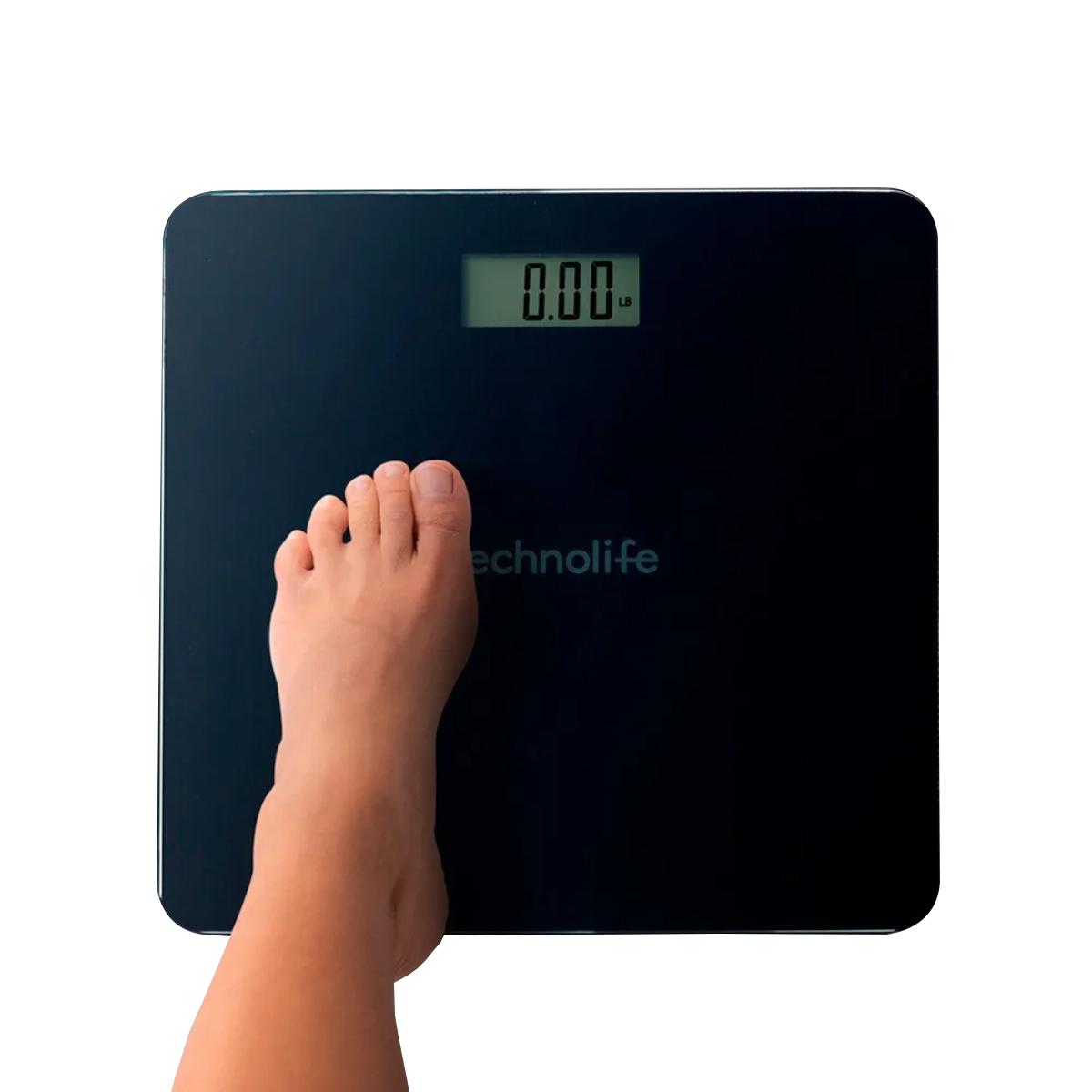 Balança Digital Até 250kg De Alta Precisão Technolife Preta