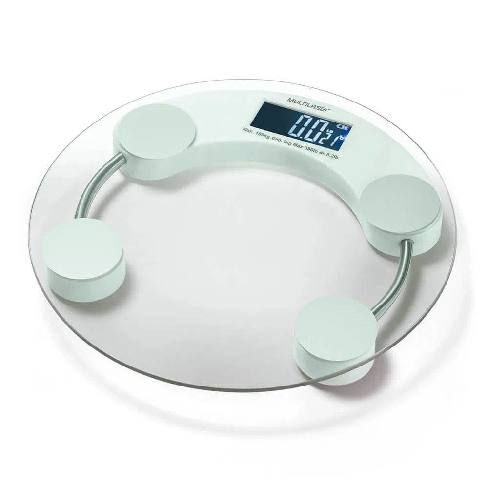 Balança Digital Eatsmart Lcd Branca - Multilaser HC039