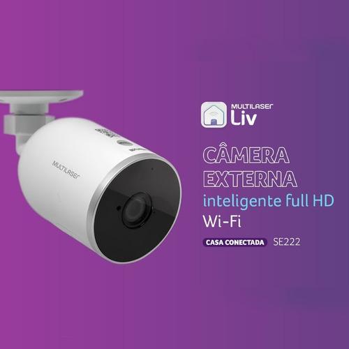 Câmera Externa Inteligente Ip65 Full Hd Wi-fi - Se222