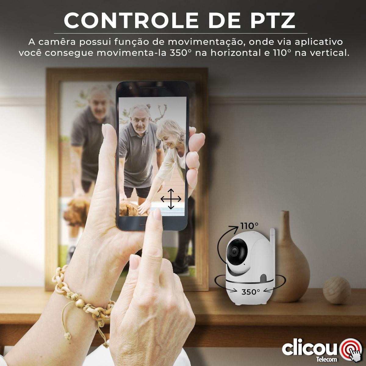 Câmera Ip Babá Eletrônica Wifi Robô Audio Segurança Idosos