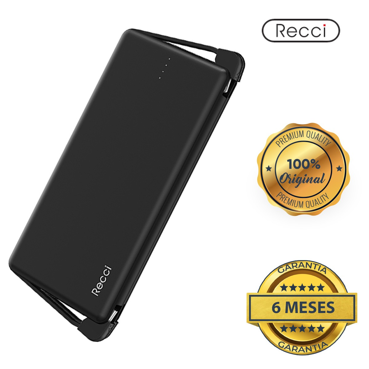Carregador Portátil Universal Power Bank 10.000mah Recci
