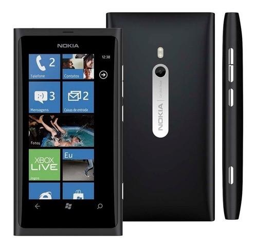 Celular Básico 3g Nokia Lumia 800 16gb Cam 8mp Radio Fm Mp3