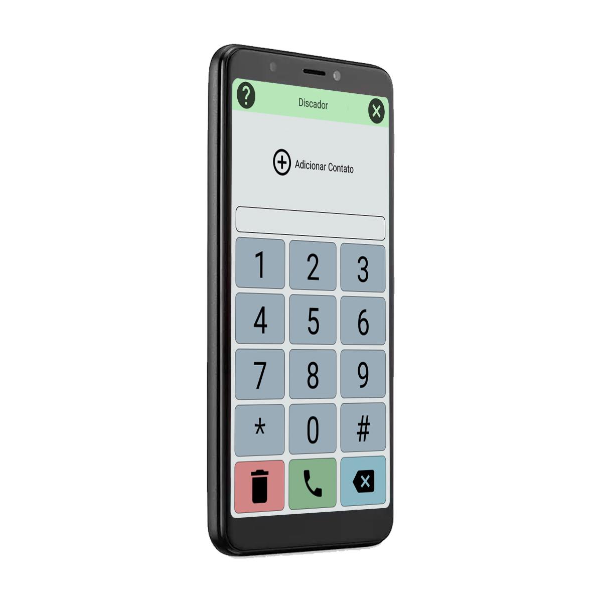 Celular Do Idoso Letras Grandes Tela 5,5 16GB Sos Biometria