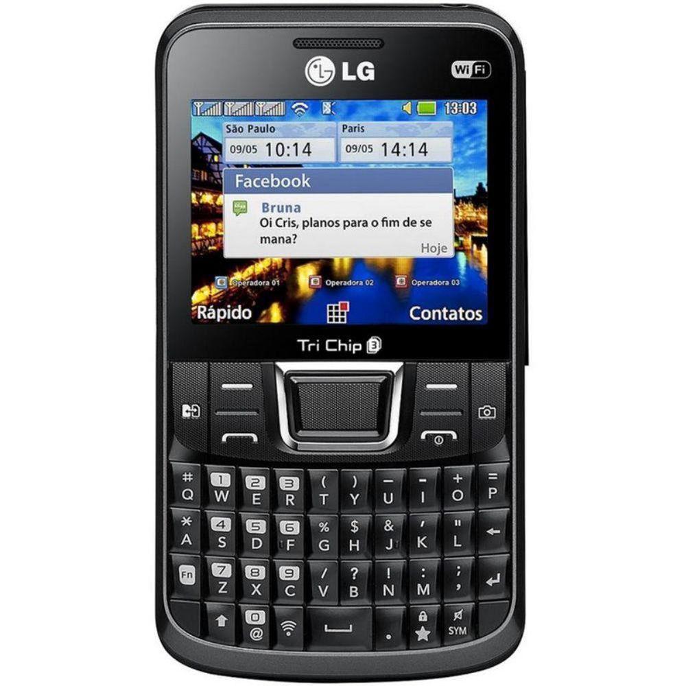 Celular Lg Tri Chip C333 Qwerty Câmera 3.2mp Mp3 Rádio Usado