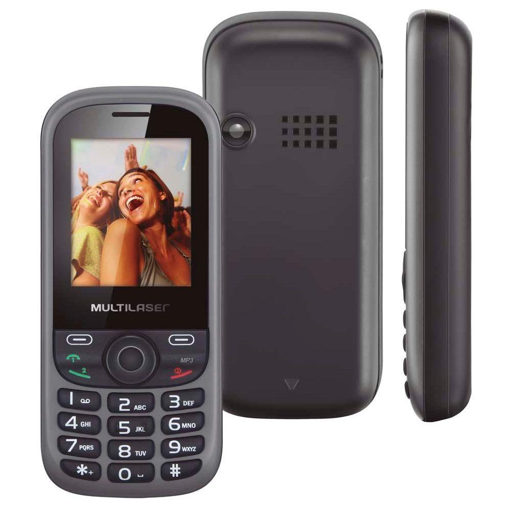 Celular Multilaser UP P3292 Tela de 1,8' Dual Chip MP3 Rádio FM Bluetooth Vitrine