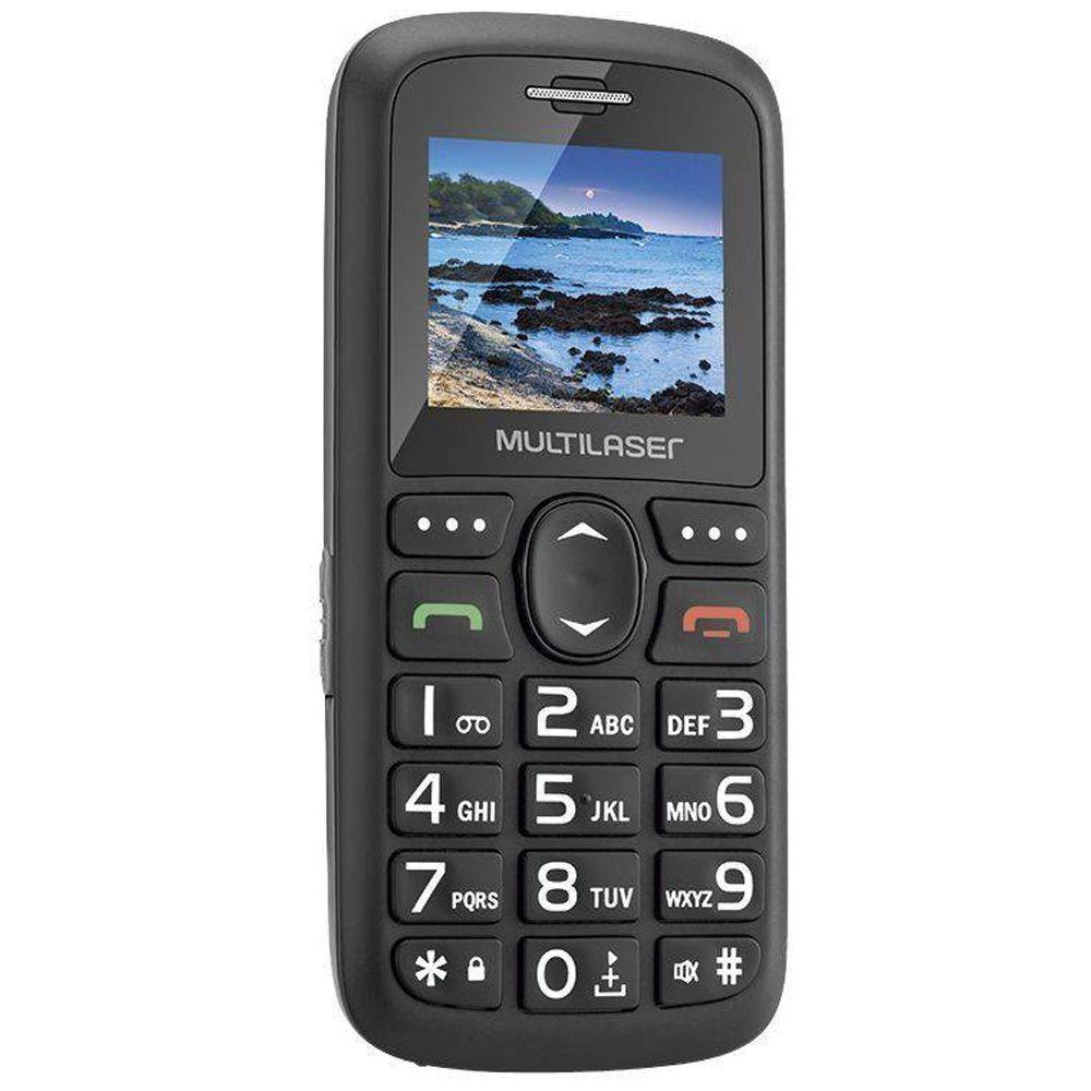 Celular Multilaser Vita 3g P9091 Dual Botão Sos Para Idoso Novo