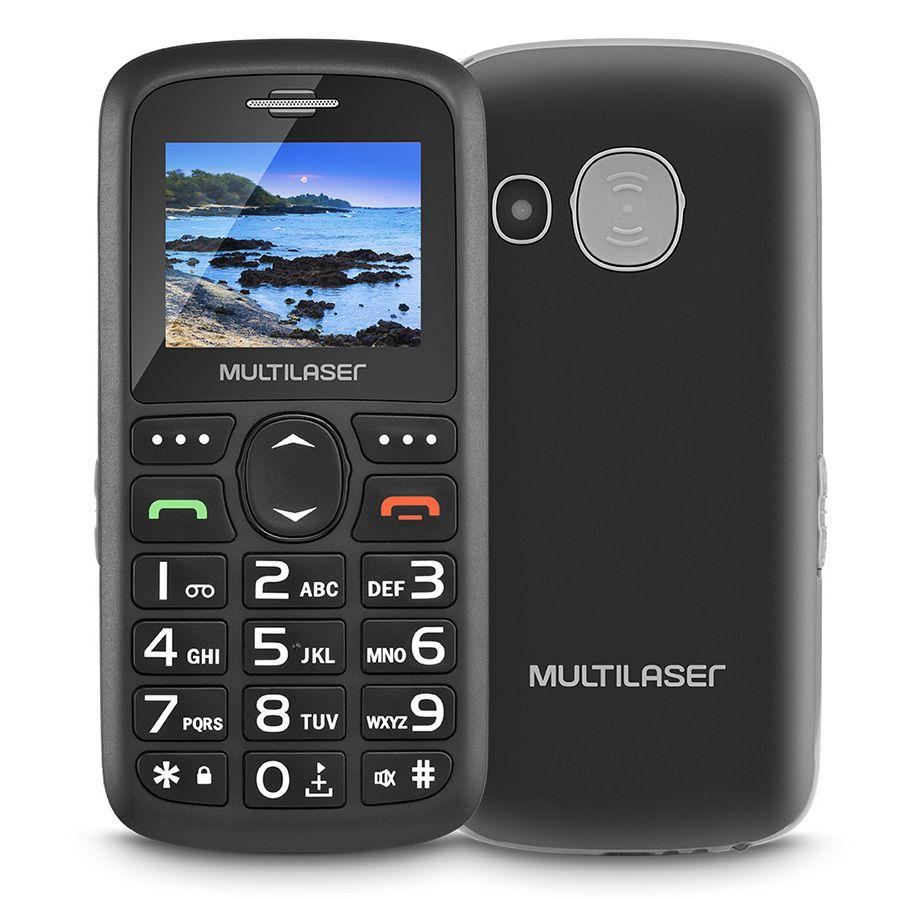 Celular Para Idoso Vita 3 P9048 Multilasaser 2 Chips Tecla Sos Teclas Grandes