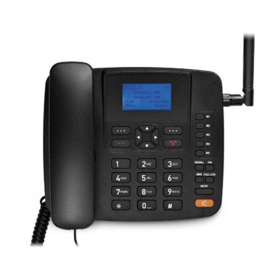 Celular Rural Fixo Multilaser RE504 Quadriband 3G Preto Novo