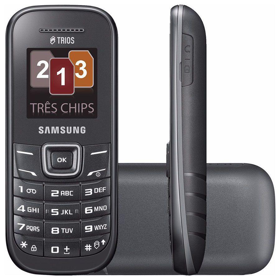 Celular Samsung E1203 Tri-chip Rádio Original Anatel Vitrine