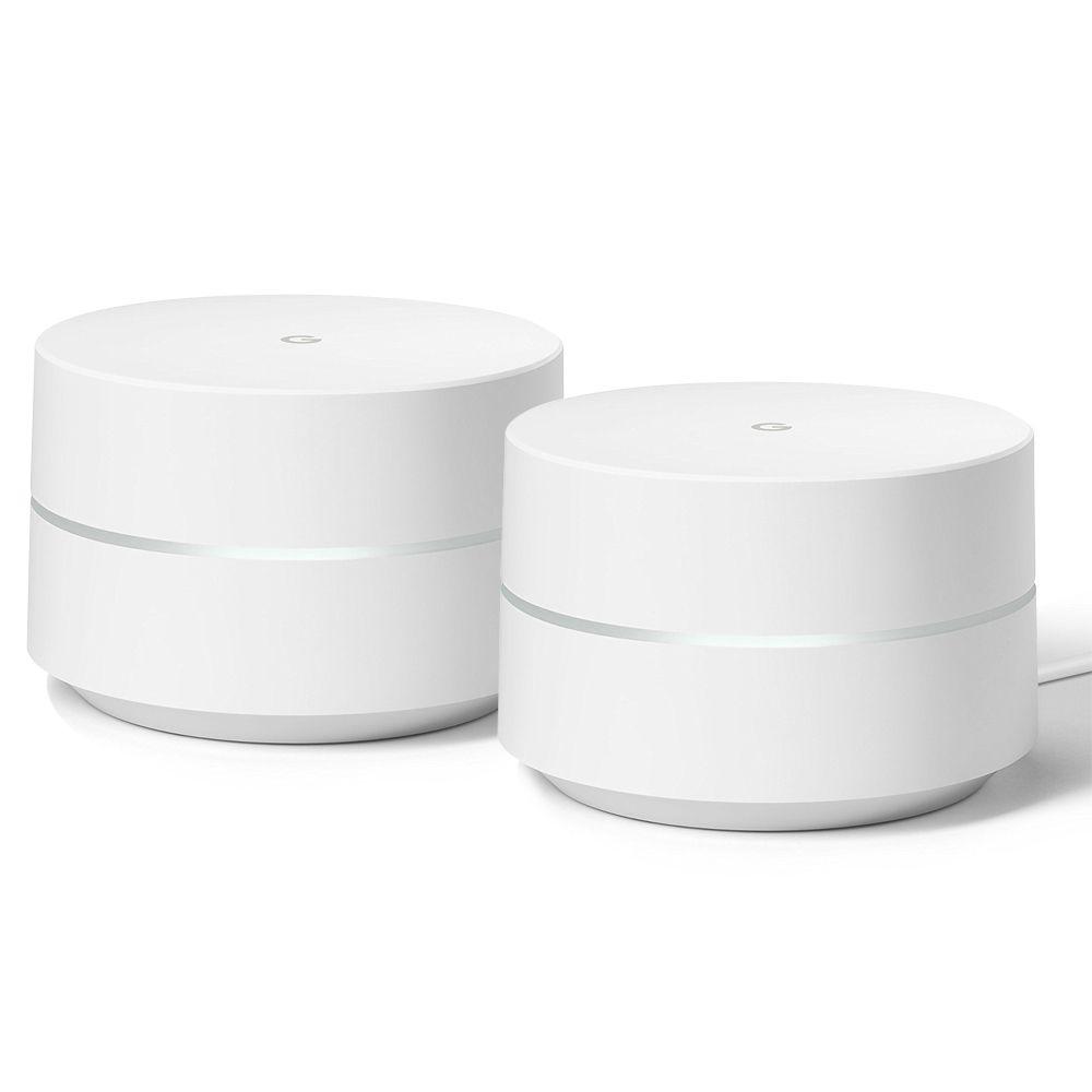 Combo 02 Roteadores Google Wifi Dual Band Tecnologia Mesh 2 antenas AC1200 Original Novo De Vitrine