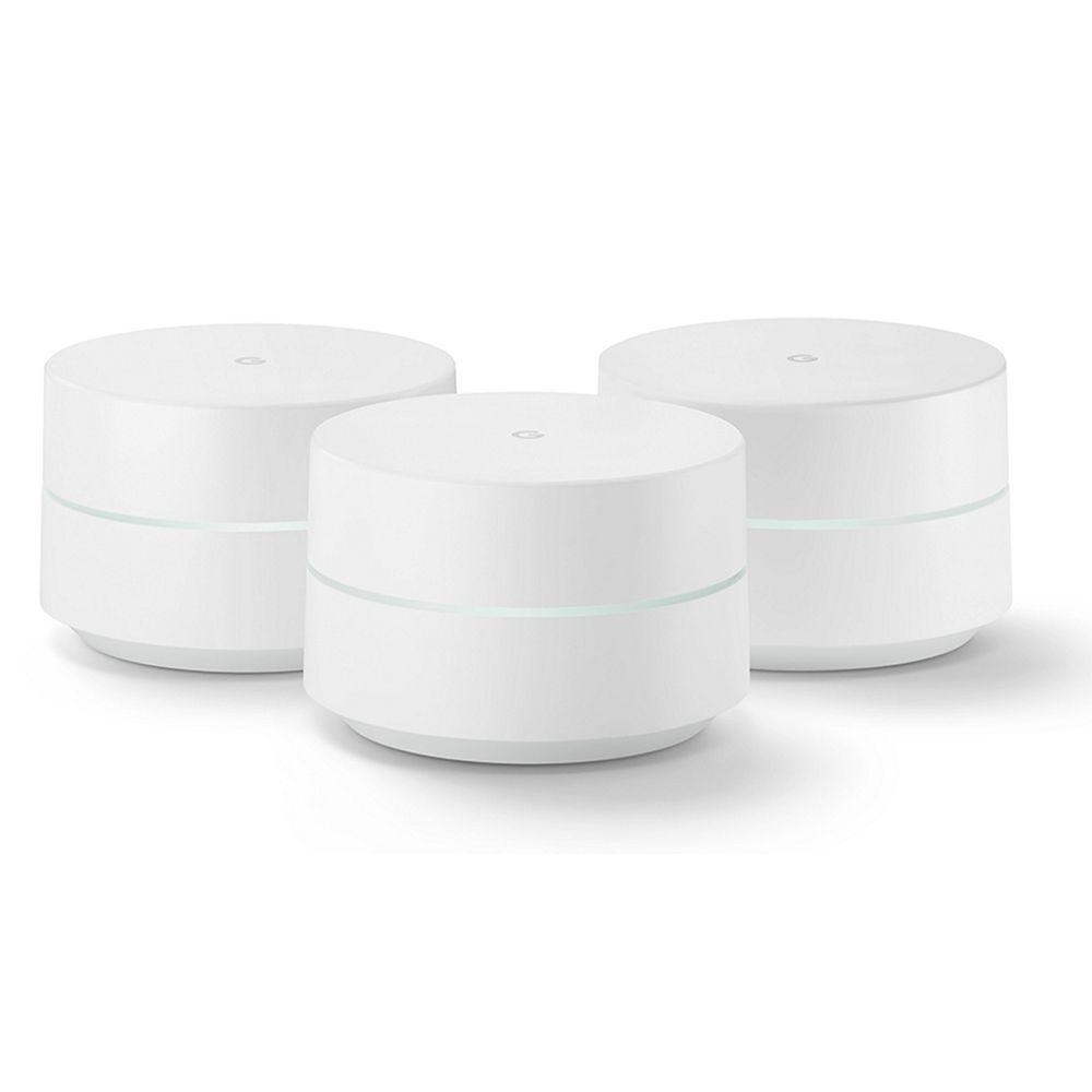 Combo 03 Roteadores Google Wifi Dual Band Tecnologia Mesh 2 antenas AC1200 Original Novo De Vitrine
