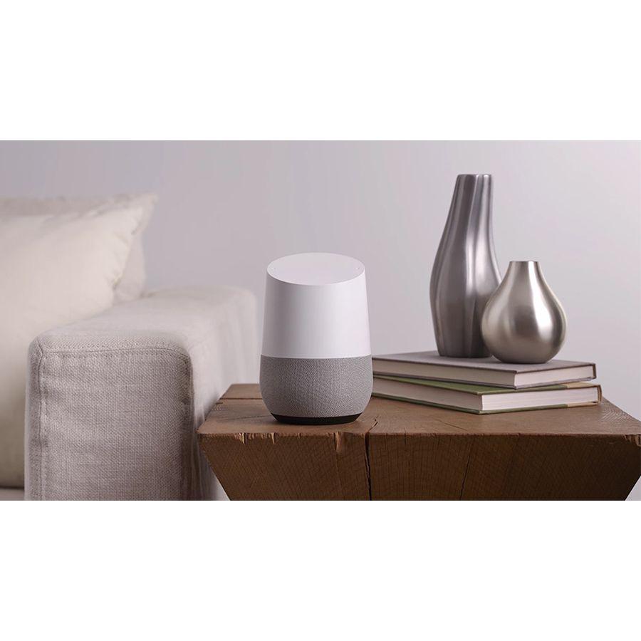 Google Combo Com 02 Google Home Caixa De Som Speaker Wi-fi Vitrine