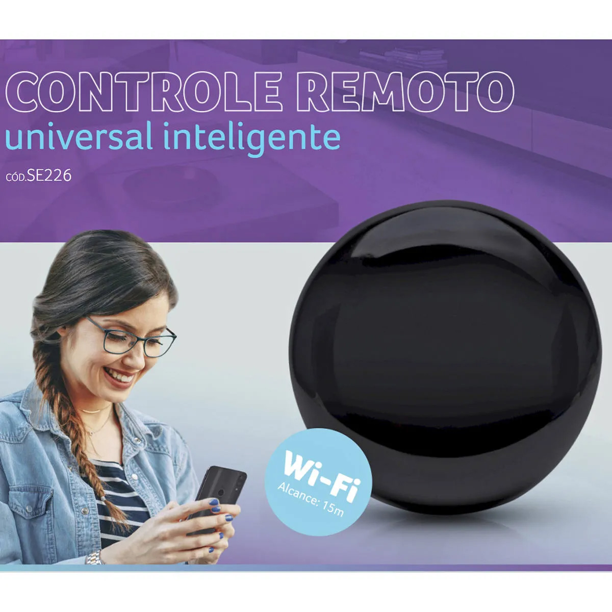 Controle Remoto Universal Inteligente Wi-fi Multilaser Se226