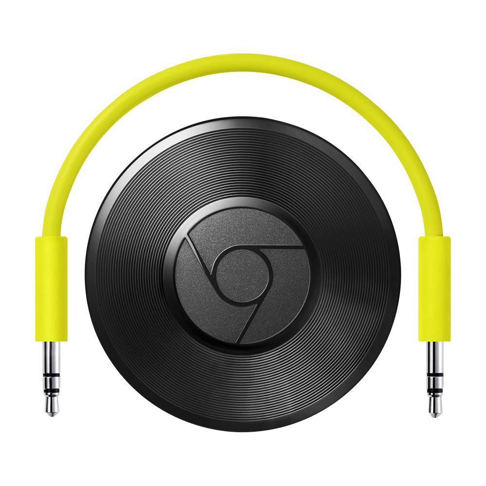 Google Chromecast Audio Hero Streaming Open Box