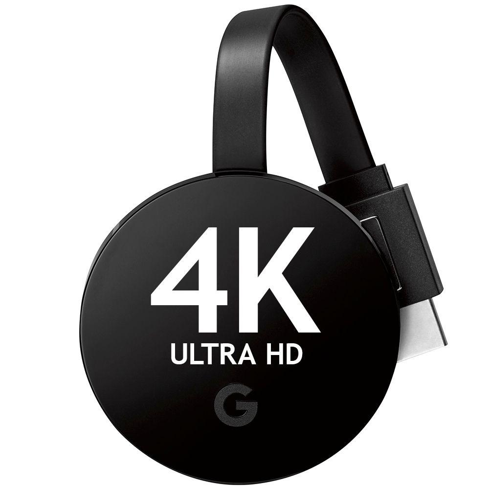 Google Chromecast Ultra HD 4k Smart Tv Hdmi Vitrine