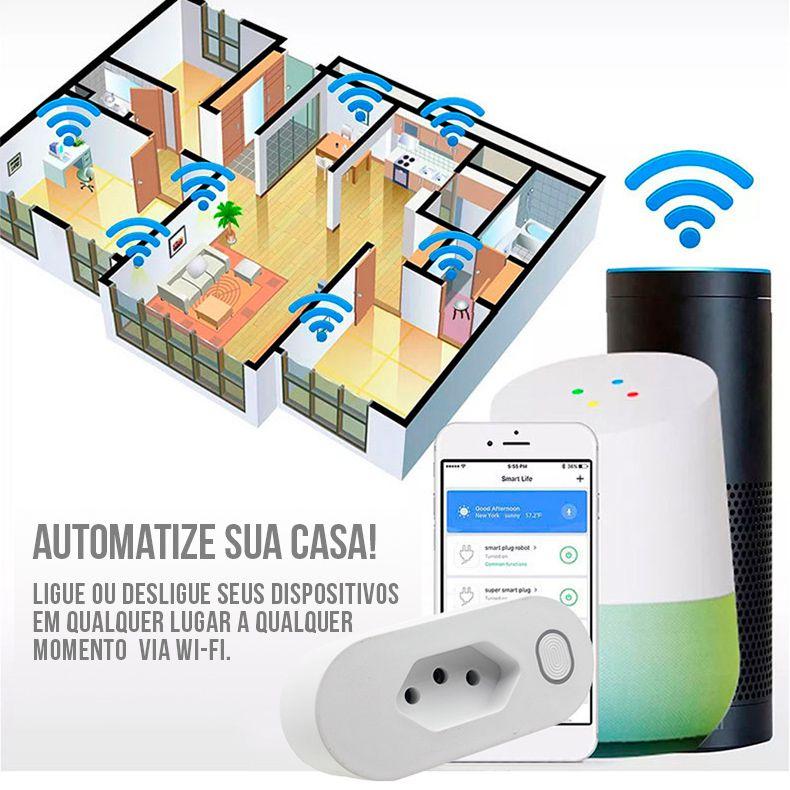 Google Home Vitrine + Tomada Automação Smart Wifi Bivolt